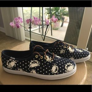 Brand new Keds in Navy with Crab design. Size 5.
